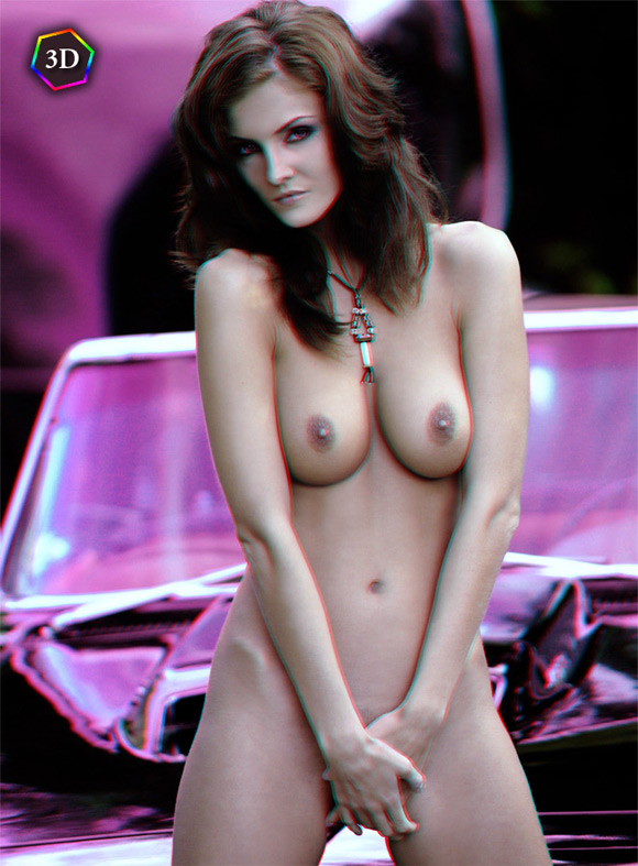 sexy-naked-girl-posing-with-a-fast-car-in-stereo-3d